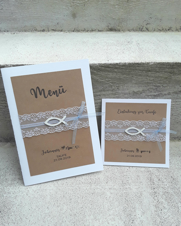 Einladungskarten Hochzeit Und Taufe Vintage